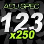 12cm (120mm) Race Numbers ACU SPEC - 250 pack